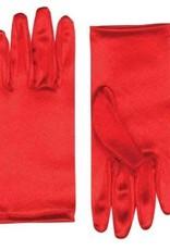 Short Coloured Gloves - Red
