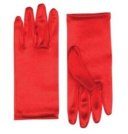 Short Coloured Gloves - Red