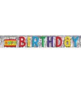 Happy Birthday Foil Fringe Banner
