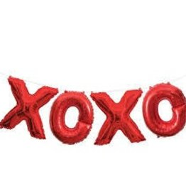 "14"" Red XOXO DIY Balloon Banner"