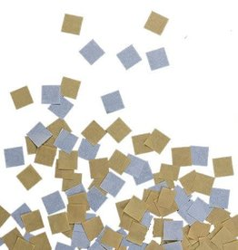 "Gold and Silver 1"" Square Tissue Confetti"