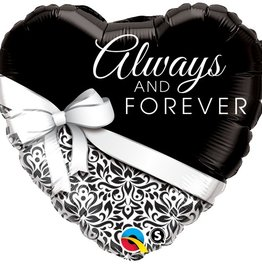 """Qualatex 18"""" HEART ALWAYS AND FOREVER"""