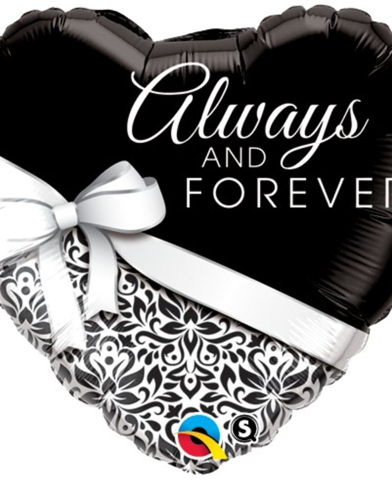 "Qualatex 18"" HEART ALWAYS AND FOREVER"