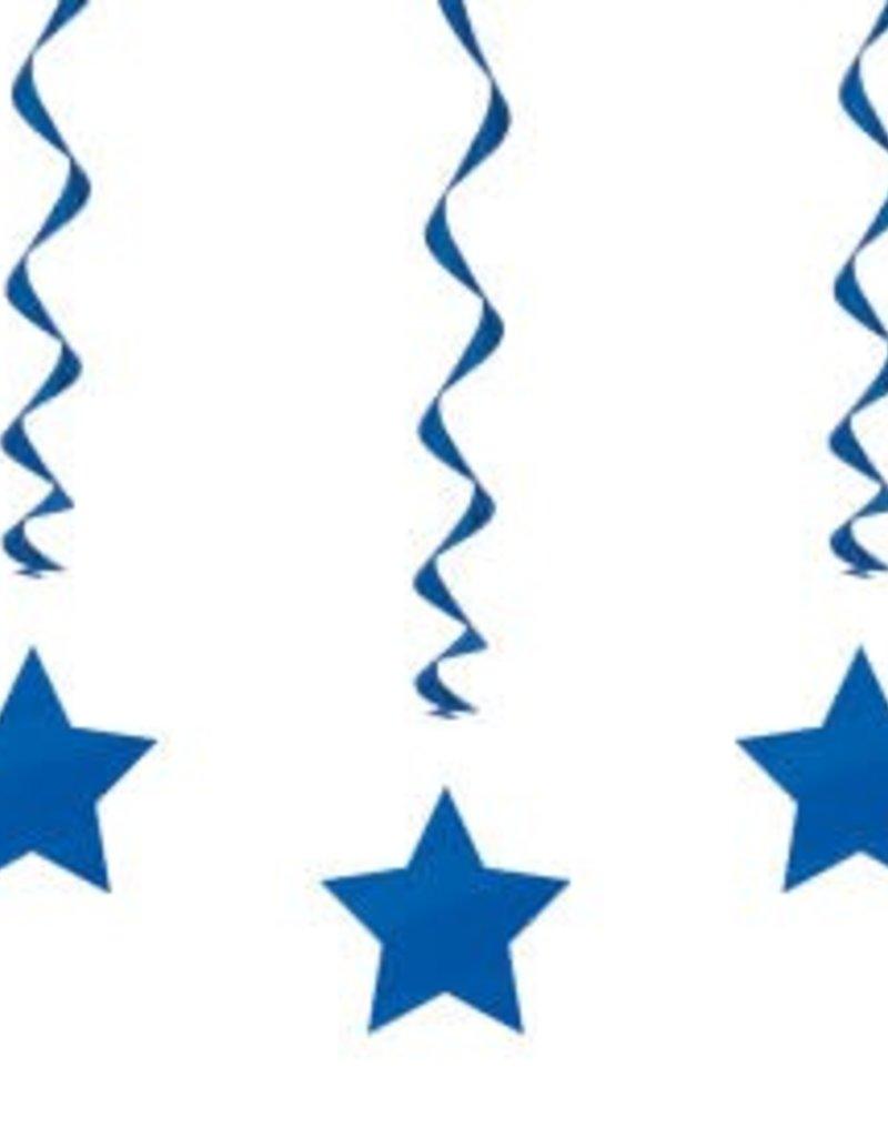 Star Swirls Hanging Decoration - Blue
