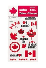CANADA DAY COLOUR TATTOO SHEETS 2PK