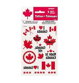CANADA DAY COLOUR TATTOO SHEETS 2PK