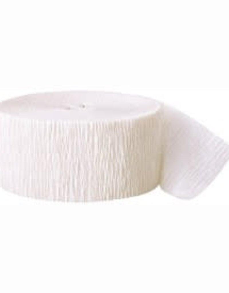 Crepe Streamer - White