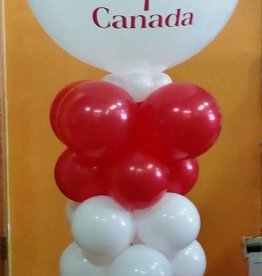 BALLOON PILLAR W/JUMBO ROUND TOP (5 FEET TALL)