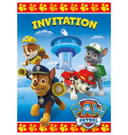 PAW PATROL INVITATIONS (8PK)