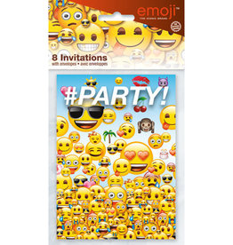 EMOJI INVITATIONS (8PK)
