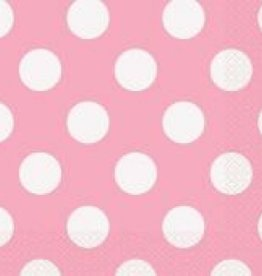 LOVELEY PINK DOTS NAPKINS (16 PER PKG)
