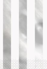 SILVER STRIPE NAPKIN (16 PK)