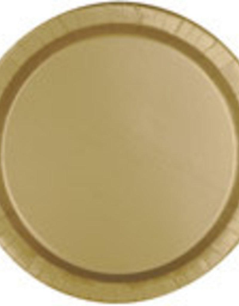 """9"""" GOLD FOIL PLATES (8 PK)"""