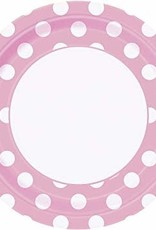 "9"" PLATE LOVELY PINK DOTS (8 PER PKG)"