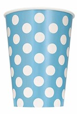 12OZ CUP LIGHT BLUE DOTS (6ct)