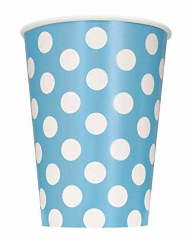 12OZ CUP LIGHT BLUE DOTS (6ct)