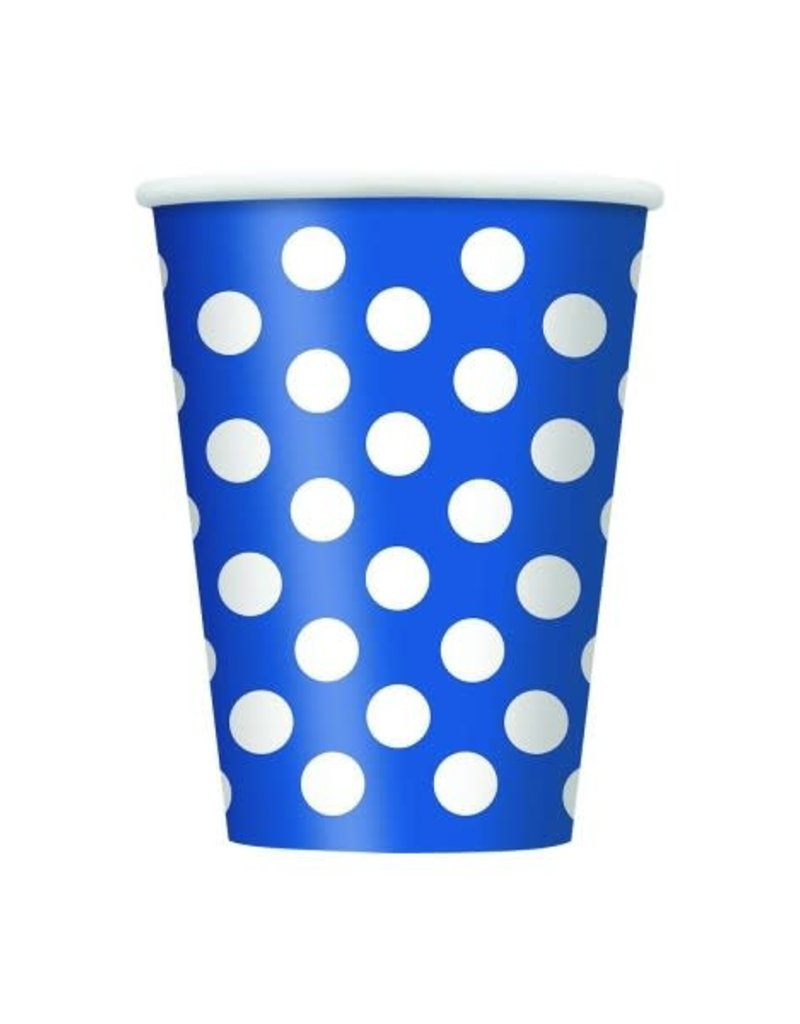 12OZ CUP ROYAL BLUE DOTS