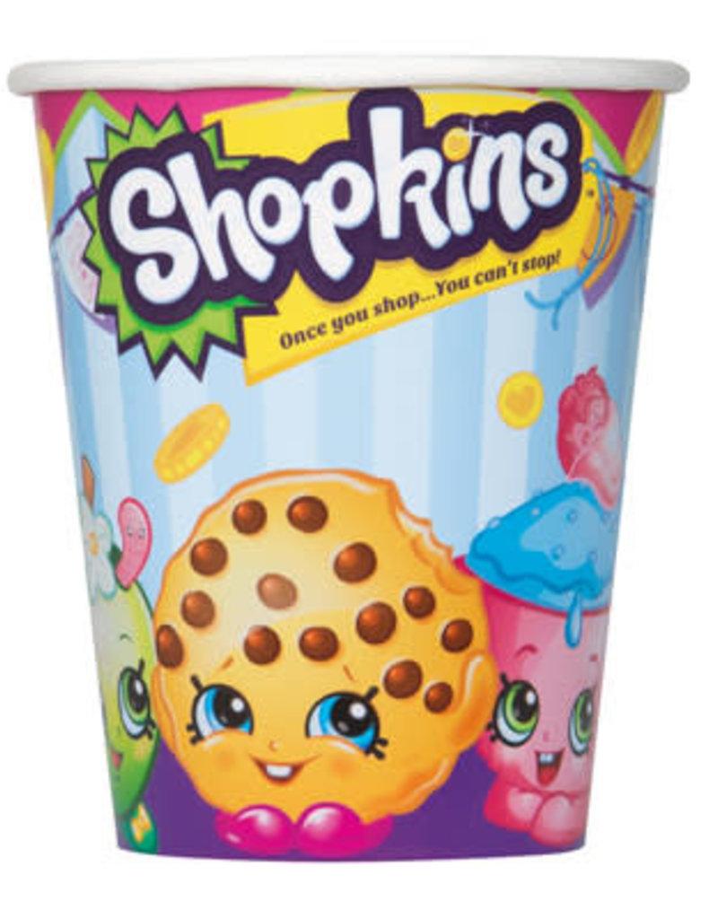 SHOPKINS 9 OZ CUPS (8PKG)