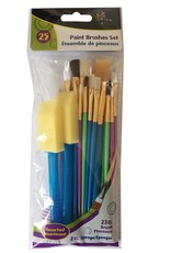 25 Piece Paint Brush Set
