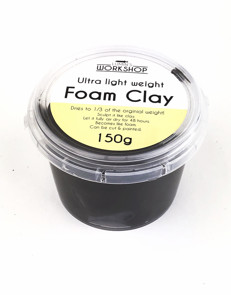Lumin's Workshop 150g Foam Clay - Black