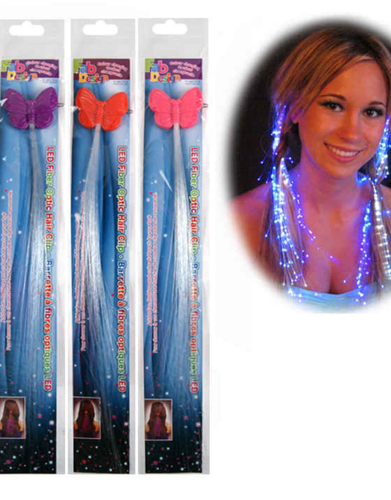 LED Fibre Optic Colour Changing Hair Clip