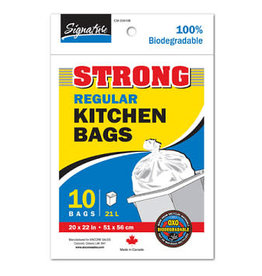 10 Pack of Kitchen Bags - White