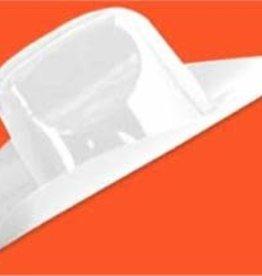Miniature Plastic Cowboy Hat - White