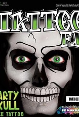 Tattoo FX Skull Face Tattoo - White