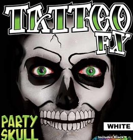 Tattoo FX Party Skull - White