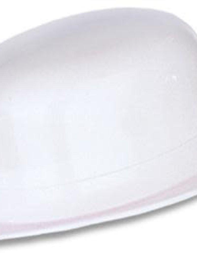 Plastic Derby Hat - White