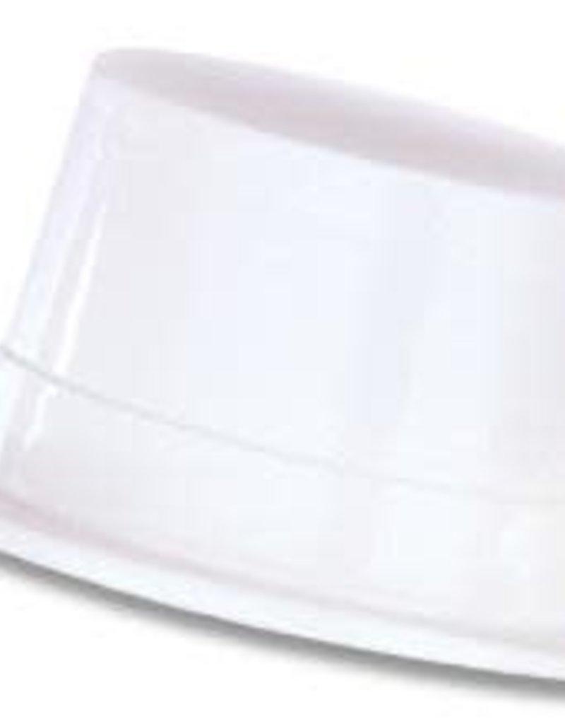 Plastic Topper Hat - White