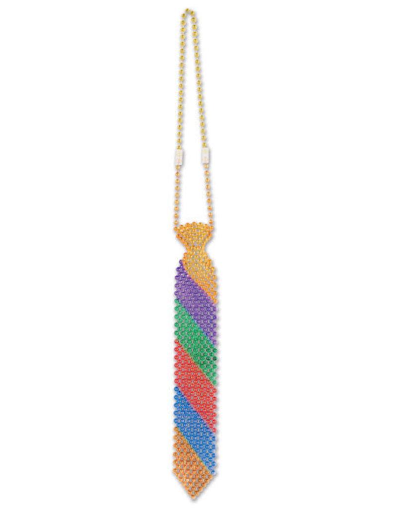 Beistle Rainbow Bead Tie