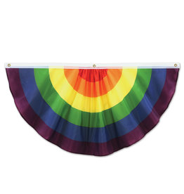 Beistle 4' Rainbow Fabric Bunting