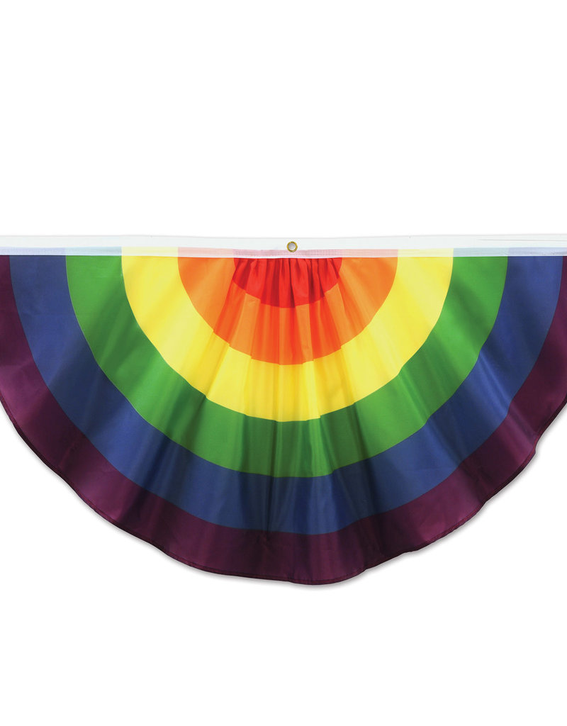 Beistle 4' Rainbow Fabric Bunting