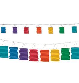 Beistle Rainbow Lantern Garland