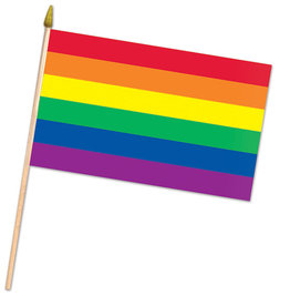 Beistle Rainbow Flag - 22""