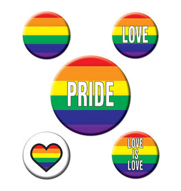 Beistle Pride Button - Assorted