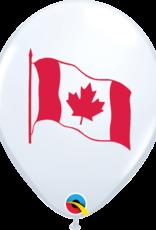 "Qualatex 11"" Canada Flag Latex 50 CT"