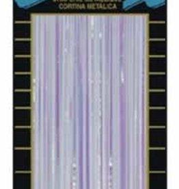 8'X3' 1 Ply Metallic Curtain Opal White1/PK
