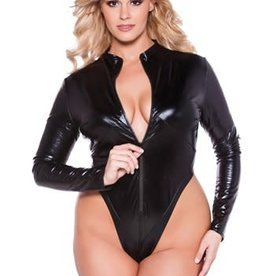 Allure Naughty Kitten Bodysuit - Plus Size