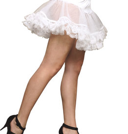 Lace trimmed Petticoat - White