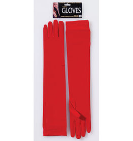 Long Nylon Gloves - Red