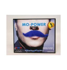 Mo-Power Mustache - Blue
