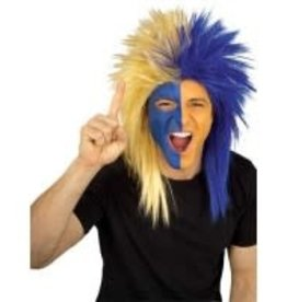 Sports Fanatics Wig - Blue and Gold