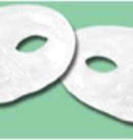 Metallic Half Mask - White