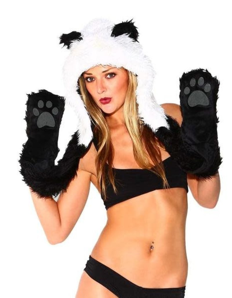 IHEARTRAVES Furry Hood - Panda