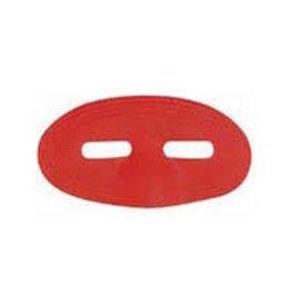 Satin Domino Half Mask - Red