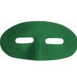 Satin Domino Half Mask - Green