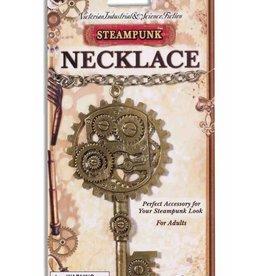 Steampunk Copper Key Gear Necklace