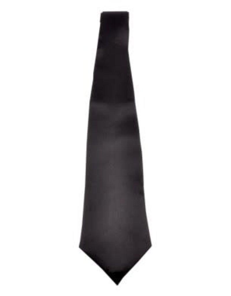 Gangster Long Tie - Black